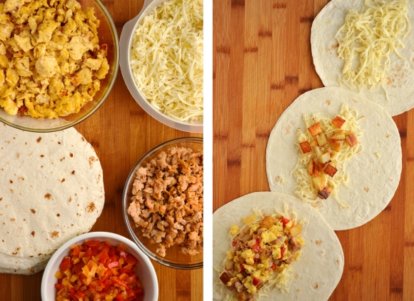 simple, make-ahead breakfast burritos